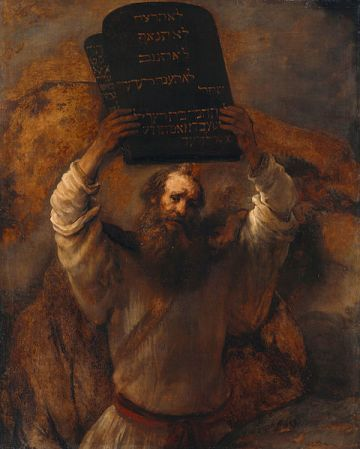 Rembrandt's Moses with the Ten Commandments (1659).
