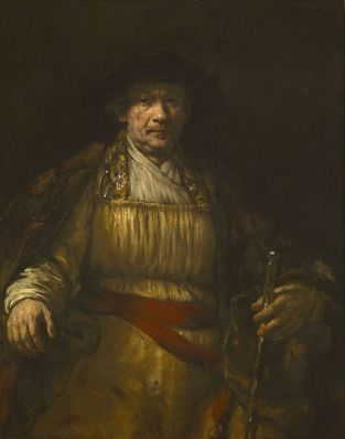 Rembrandt's Self-Portrait of 1658. It is located in the Frick Collection, New York.