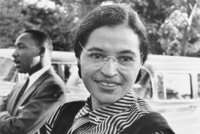 Rosa Parks with Martin Luther King, Jr., in 1955.