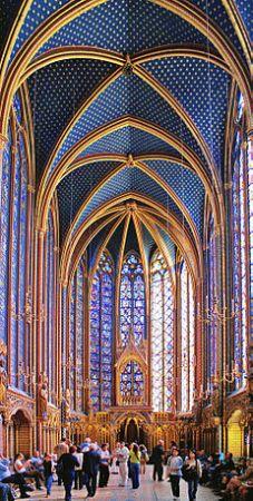 The interior of Sainte-Chapelle.