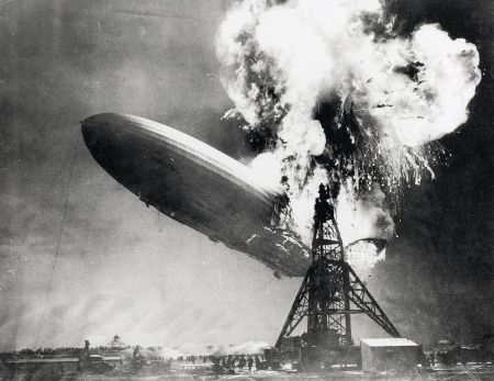 Sam Shere's photograph of the Hindenburg disaster.