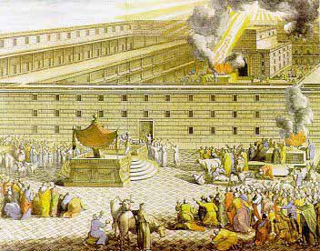 An anonymous artist's imagining of Solomon's Temple in Jerusalem.
