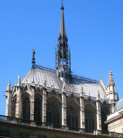 A view of Sainte-Chapelle from the North.