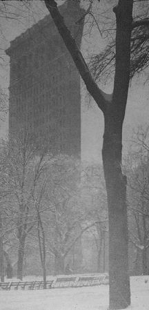 Flatiron Building, a photo by Alfred Stieglitz.