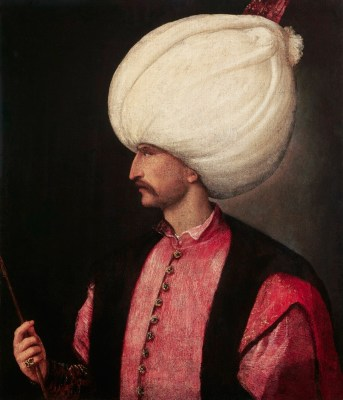 A copy of Titian's portrait of Suleiman the Magnificent from about 1530-1540.