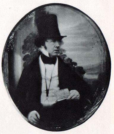 A daguerrotype of William Henry Fox Talbot by Antoine Claudet.