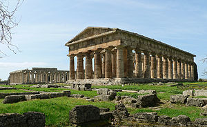 Paestum was the site of Roman temples to