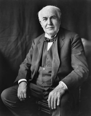A 1922 photograph of Thomas Edison by Louis Bachrach.