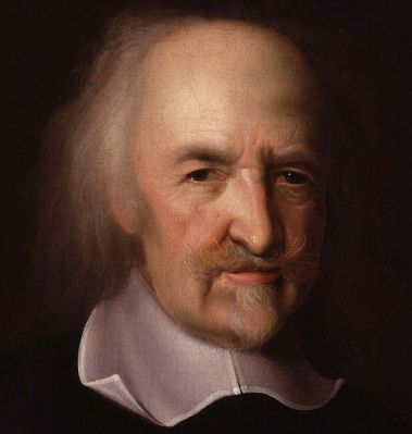 A 17th Century portrait of Thomas Hobbes by John Michael Wright. It is located in the National Portrait Gallery, London.