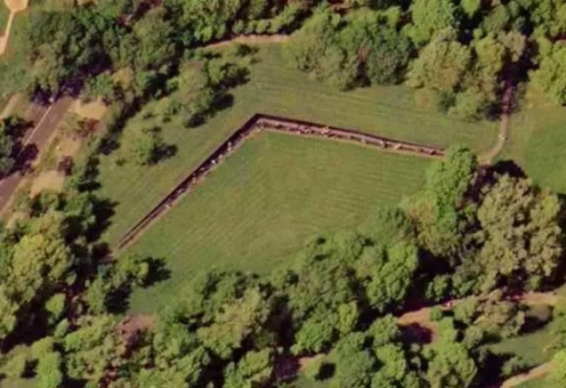 vietnam veterans memorial aerial view