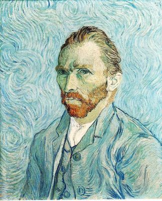 Self-Portrait by Vincent Van Gogh in 1889. It is now at the Musée d'Orsay.