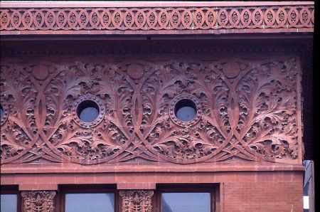 Detail of a frieze from the Wainwright Building.