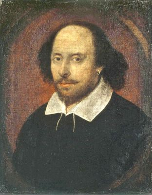 A 1610 portrait of a man many believe to be William Shakespeare, probably painted by John Taylor. It is located in the National Portrait Gallery, London.