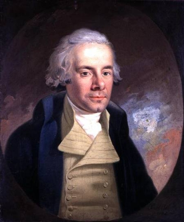 A 1794 portrait of William Wilberforce by Anton Hickel. It may be found at Wilberforce House, Kingston upon Hull, UK.