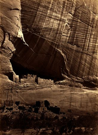 Ancient Ruins in the Canyon de Chelly, a photography by Timothy O'Sullivan.