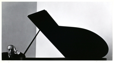 A photographic portrait of Igor Stravinsky by Arnold Newman.
