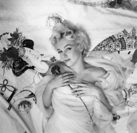 Portrait of Marilyn Monroe.