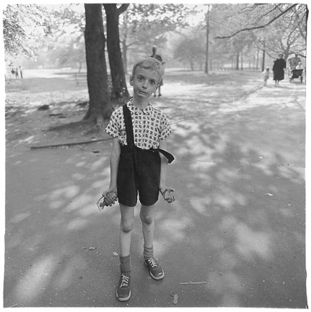 Boy with Toy Hand Grenade in Central Park.