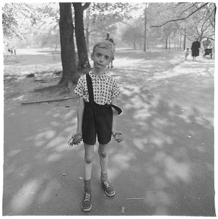 Diane Arbus boy with hand grenade