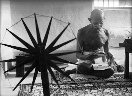 gandhi at spinning wheel bourke-white