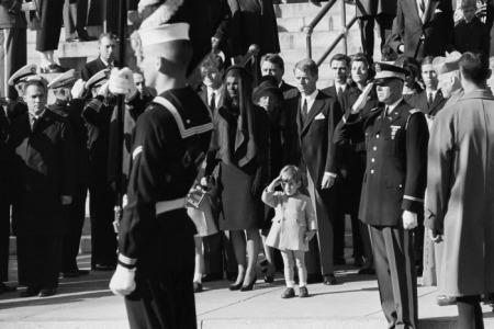 JFK, Jr. Salutes His Father's Coffin.