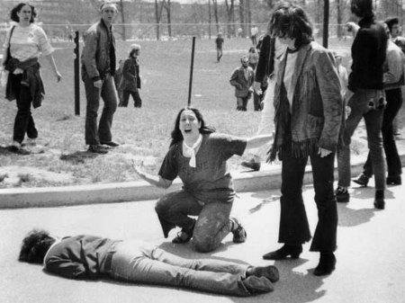 John Filo's iconic image from the Kent State massacre.