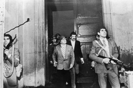 Salvador Allende Leaving Building