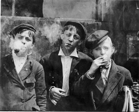 lewis hine newsies smoking larger