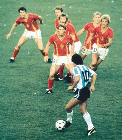 Maradona and six defenders