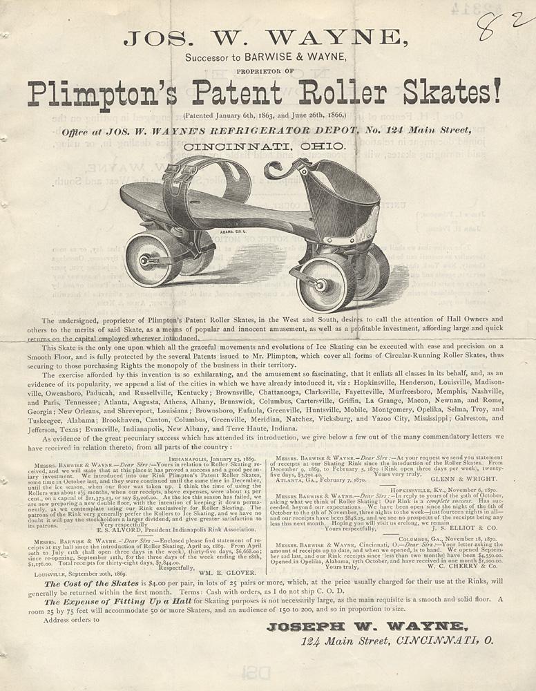 essay on invention of roller skates