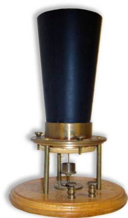 Replicas of Alexander Graham Bell's original 1876 telephone - transmitter (left) and receiver.