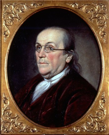 This 1785 portrait of Benjamin Franklin by Charles Wilson Peale is the earliest depiction of anyone wearing bifocal lenses.