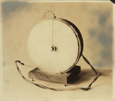 Emile Berliner's 1877 carbon microphone.