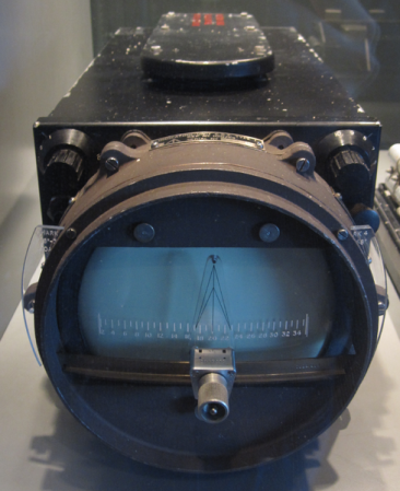 Display unit from a 1944 British ASDIC device.