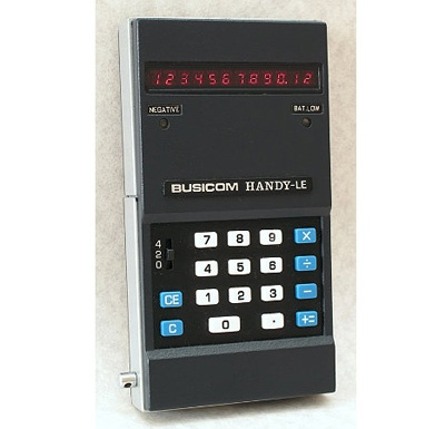 The Busicom HANDY-LE, from 1971, was the first pocket calculator that could actually fit in your pocket.