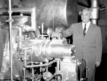Carrier and his air conditioner, in an undated photo.