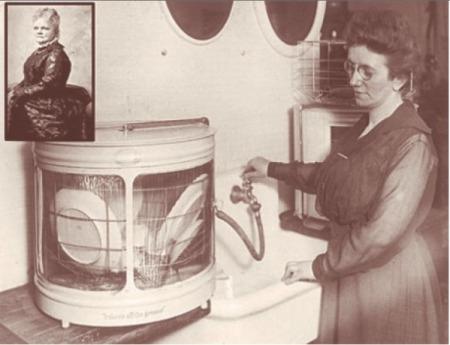 Josephine Cochrane and her dishwasher.