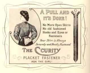 Early zipper advertisement.