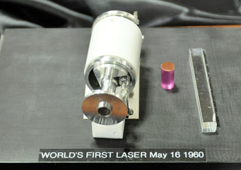 Ted Maiman's first laser, from 1960.