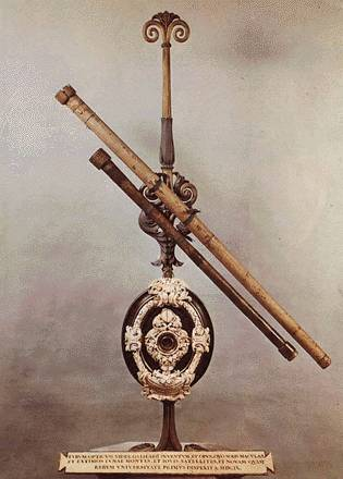 Two of Galileo's original telescopes from the early 1600s.