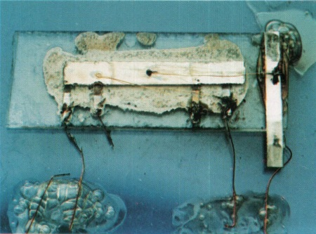 Jack Kilby's prototype integrated circuit, from 1959.