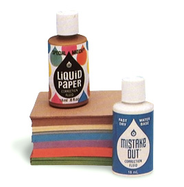 Early examples of Bette Naismith's correction fluid. It was called Mistake Out until the early 1960s, when she changed the name to Liquid Paper.