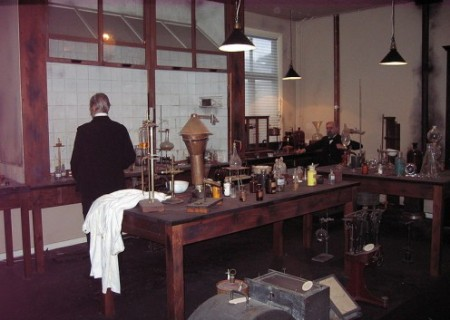 A reconstruction of Alfred Nobel's laboratory.
