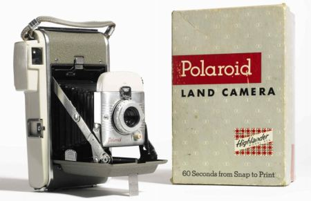 Edwin Land's original instant camera, which went on sale in 1948.