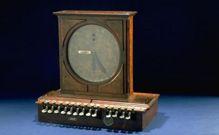 James Ritty's original cash register, from 1879.