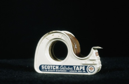 A dispenser of Scotch Tape from 1942.