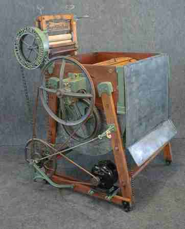 A 1910 Thor electric washing machine.