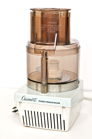 A 1970s Cuisinart, manufactured by French company Robot-Coupe.