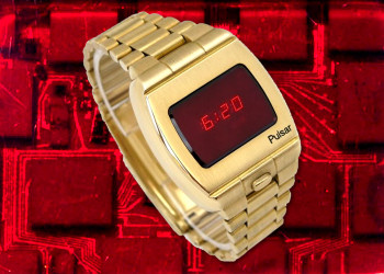 The Hamilton Pulsar P1 limited edition, which went on sale in 1972, was the first electronic digital watch.