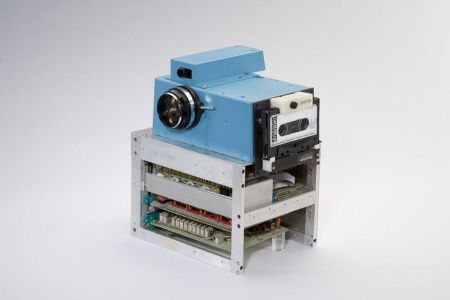 The 1975 prototype digital camera.
